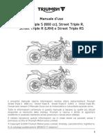 Street Triple Owners Handbook 3855672IT