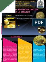 PROCESOS BIOTECNOLOGICOS DE LA CERVEZA PPT