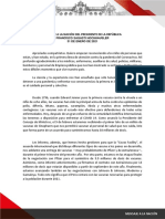 Mensaje a la Nación 31.01.21