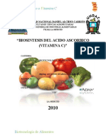 "BIOSINTESIS DEL ACIDO ASCORBICO (VITAMINA C)"""