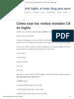 Cómo usar los verbos modales CAN y COULD en inglés - Madrid Inglés