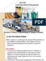 Unit 2 Lecture 3 Linear Programming & Simplex Method