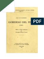 Matienzo. 1567. Gobierno Del Perú. Ifea-3104