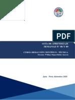 Guía - Semana 08 y 09- Redaccion Cientifica - Tecnologia Medica