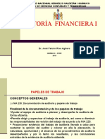 AUDITORIA FINANCIERA I - 2019-II (Papeles de Trabajo)