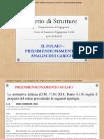 Lez 3 - Ll Solaio - Predimensionamento e Analisi Dei Carichi
