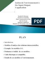 modelisation et evaluation de l'environnement