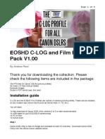 Instructions - EOSHD C-LOG and Film Profiles