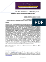 SILVA, E. LEITE, Y. U. Sistemas apostilados de ensino e a participação do professorado no processo de adesão