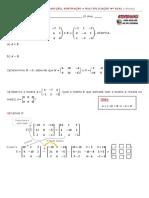 26 Exercícios Matrizes Adição Subtração Multiplicação número real reforço 08122020