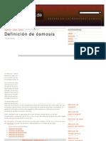 Definición de ósmosis - Qué es, Significado y Concepto