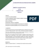 GABARITO EMERJ CP I B DIREITO CONSTITUCIONAL TEMAS 5 E 6