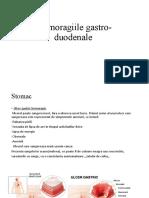 Hemoragiile gastro-duodenale