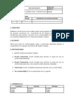 31.1. Procedimiento Acciones Correctivas y Preventivas