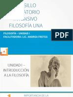 FILOSOFIA - UNIDAD I