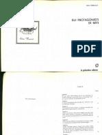 Dario Sabbatucci - Sui Protagonisti Di Miti (1981, La Goliardica Editrice) - Libgen.lc