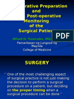 Pre- and Post-operative Monitoring of Patients