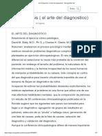 Art of diagnosis ( el arte del diagnostico)