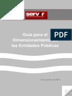 Guia Para El Dimensionamiento de Las Entidades Publicas - SERVIR