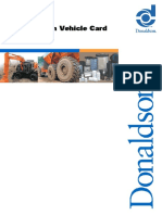 Donaldson Vehicle Card Hitachi