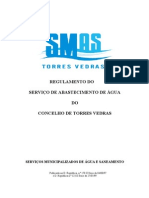REGULAMENTO DE ÁGUAS E ESGOTOS-T.Vedras