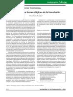 Alternativas farmacológicas de la transfusión