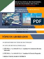 Seminario de Investigación II - Sesiones 11 y 12