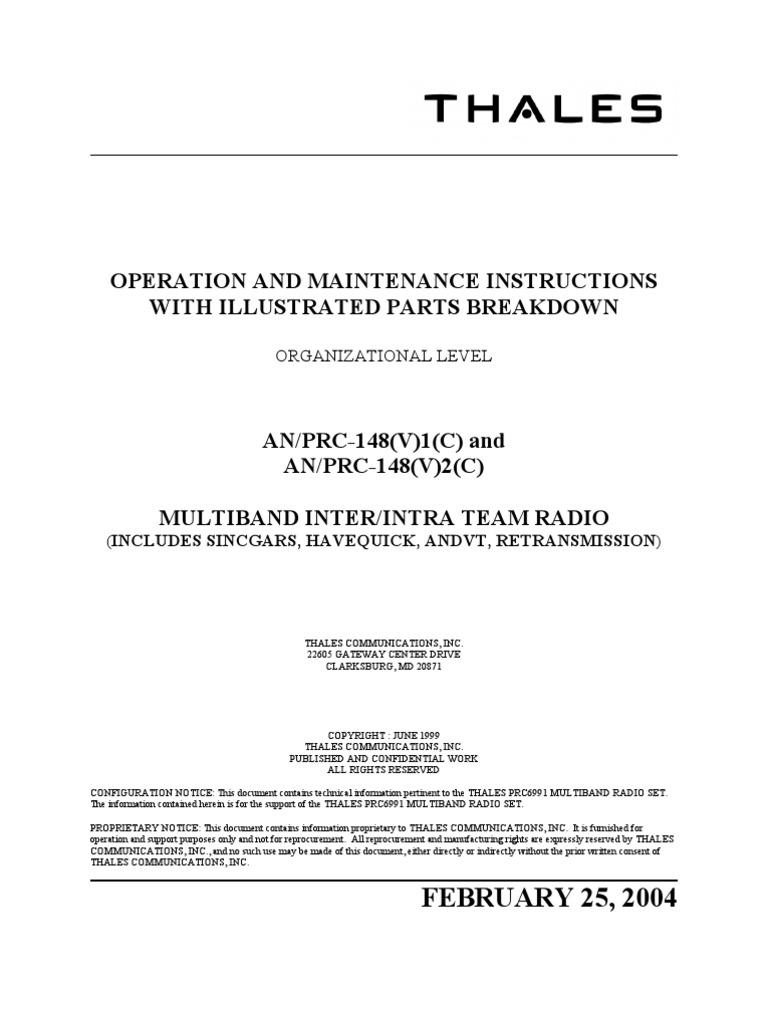 etm rh scribd com MBITR TM AN PRC 148 MBITR Manual