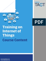 Internet of Things Course Outline