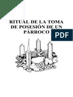 5 RITUAL DE LA TOMA DE POSESIÓN DE UN PÁRROCO
