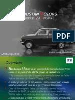 hindustan motors case study  ppt