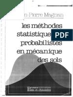 1982 - Les Méthodes Statistiques en Mécanique Des Sols - Magnan