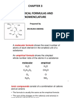 Chapter 3 Chemical formulas and nomenclature (1)
