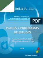 Planes y Programas - Secundaria