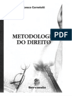 Francesco Carnelutti - Metodologia do direito