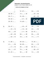 Mathematik Grundrechenarten Addition Addieren Bis 100 Ohne Zehneruebergang Nr 16