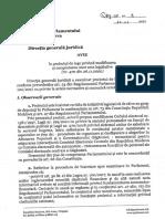 Avizul Direcției Juridice a Parlamentului privind legalizarea CE a Găgăuziei