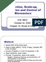 Biorecator Scale up Lecture 18 - Oct 22