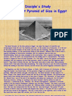 A Disciple's Study on the Great Pyramid at Giza in Egypt