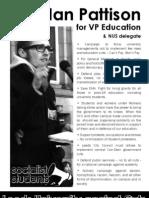 Vote Ian Pattison #1 for Education & NUS Delegate @ Leeds Uni