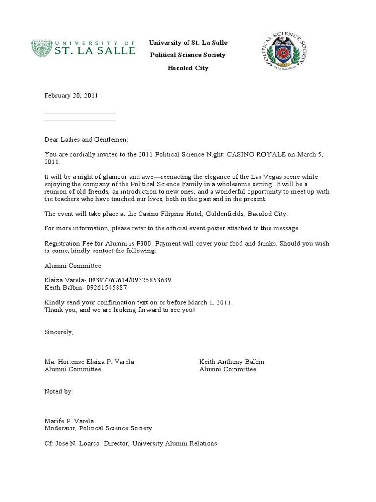 solicit letter