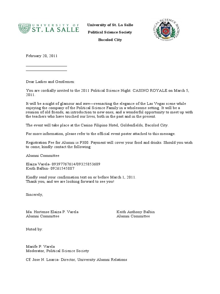 Alumni solicitation letter with reply slip and logo 1 altavistaventures Image collections