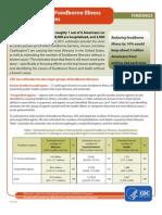 Dados 2011 fodborne diseases USA