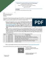 Pemberitahuan pengiriman dokumen dan pembayaran biaya Toga