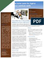 GSS - Curriculum Formation LSS BB-UPGRADE - 2012
