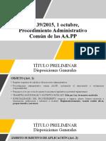 Ley 39-2015 Procedimiento Administrativo Comun Aa.pp.