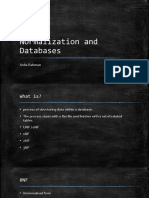 Normalization and Databases