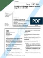 NBR 12042 -1992 Materiais_Inorganicos Determinacao Do Desgaste Por Abrasao