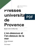 Mythologie - Mondes marins du Moyen Âge - L'en-dessous et l'en-dessus de la mer - Presses universitaires de Provence