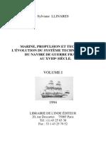 Volume 1 Marine Propulsion et technique Thèse publiée Sylviane Llinares 1994
